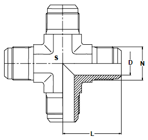 STAINLESS STEEL 37 DEGREE CROSS FITTINGS