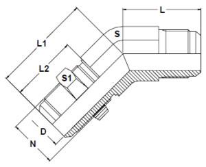 Stainless-Steel-37-Degree-Flare-45-Degree-Bulkhead-Elbows