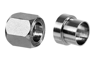Stainless Steel 37 Degree Flare Fittings Nuts & Sleeves