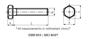 Stainless-Steel-Hex-Head-Screws-Bolts-Set-screws-DIN-933