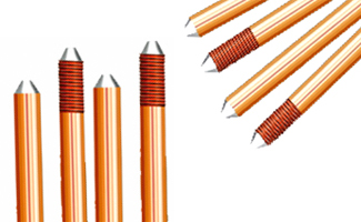Solid Copper Earthing Grounding Rods
