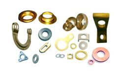 Custom Copper and Brass pressed parts Components