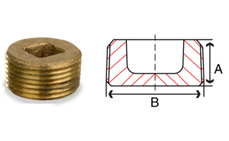 Bronze Counter Sunk Square Plug