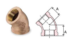 Bronze Fittings 45 Degree Elbow