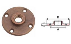 Bronze Floor Flange